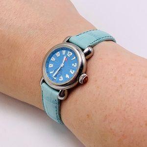 EUC RARE Vintage Michele Mini CSX Watch; Blue Dial